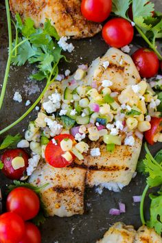 Grilled Tilapia with Corn Salsa | TheFoodCharlatan.com // This recipe is so so easy. Use up the end of those summer veggies! #recipe