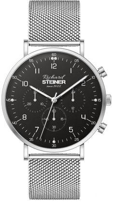 Richard Steiner Generation One Watch Brands, Gentleman, Accessories, Designer Clocks, Pointers, Leather Cord, Simple Lines, Branding, Gentleman Style