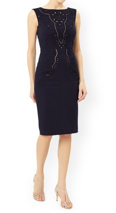 MONSOON Esta Ponte Dress.  UK18 EUR46  MRRP: £129.00GBP - AVI Price: £65.00GBP