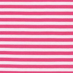 1/2 Watermelon/White Stripes Rayon Jersey Stretch by StylishFabric, $5.50 top