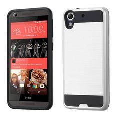 MYBAT Merge Brushed HTC Desire 626 Case - Silver/Black