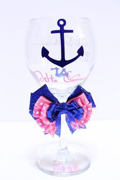 Delta Gamma Anchor Big Sis Little Sis by frecklefoxboutique, $22.99