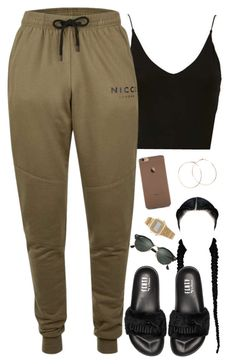 """""""Gross"""" by daisym0nste ❤ liked on Polyvore featuring Valentino, Topshop, Topman, Puma, Jennifer Creel, American Apparel and Ray-Ban"""