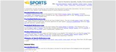 47 Perfect Alternatives to Wikipedia: Sports Reference - 27. Anything you want to know about sports - stats, box scores, game logs, playoffs - you can find it at Sports Reference. This site offers detailed information for fans of baseball, basketball, football, hockey, and the Olympic Games.