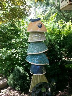 Fish on pinterest ceramic fish koi and wind chimes for Koi fish wind chime