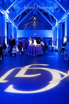 Love this setup with a #gobo #monogram at this #uplighting #wedding #reception! #diy #diywedding #weddingideas #weddinginspiration #ideas #inspiration #rentmywedding #celebration #weddingreception #party #weddingplanner #event #planning #dreamwedding by @deeakright