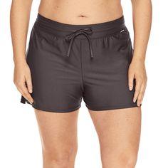 291f35a0fc Zeroxposur Drawstring Solid Swim Shorts Plus ($52) ❤ liked on Polyvore  featuring swimwear,