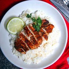 Lazy Girl Sweet + Spicy Lime Chicken Recipe Main Dishes with boneless skinless chicken breasts, cayenne, garlic powder, dried parsley, brown sugar, lime