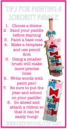Tips For Painting A Sorority Paddle