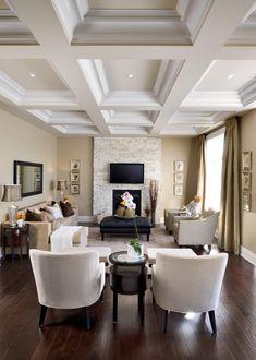 Love the coffer ceiling | Jane Lockhart Interior Design