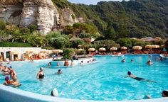 Ischia Island, Italy- If you need a relaxing vacation, this is the place to be. This volcanic island in the Tyrrhenian Sea is known for its thermal spas, hot springs, and volcanic mud.