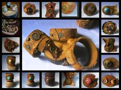 leatcher rings Handmade Leather Jewelry, Leather Crafts, Leather Ring, Leather Belts, House Blueprints, Rings Cool, Leather Accessories, Cuff Bracelets, Jewerly