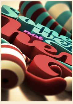 3D Typography on the Behance Network in Illustration