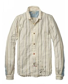 I'm not 100% sure about this one.  Vintage long-sleeved shirt in Japanese cotton - Shirts - Official Scotch & Soda Online Fashion & Apparel Shops