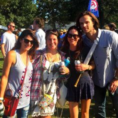 Jared, Gen and Danneel at ACL2015 #fancandid
