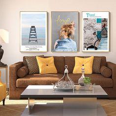 """Nordic Blonde In Denim Canvas Painting Nostalgic Bike Poster Print Decor Wall Art Picture Aisle Unique Living Room Tableau Salon"" Wall Art Prints, Poster Prints, Canvas Prints, Nordic Blonde, Bike Poster, Wall Art Pictures, Abstract Wall Art, Wall Art Decor, Living Room Decor"