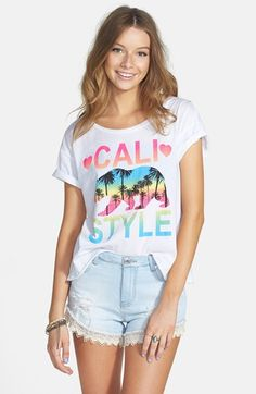 JC Fits 'Cali Style' Tee (Juniors)   Nordstrom