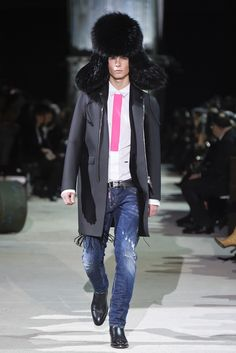 Dsquared2 Men's RTW Fall 2015 [Photo by Giovanni Giannoni]