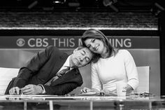 Charlie Rose and Norah O'Donnell of CBS This Morning for CBS Watch! Magazine. Photography by Christopher Ross.