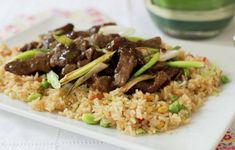 Carne Mongoliana | En Mi Cocina Hoy Easy Mongolian Beef, Mongolian Beef Recipes, Chilean Recipes, Chilean Food, Homemade Beauty Products, Recipe Images, Fried Rice, Lunch, Ethnic Recipes