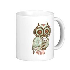 Vintage Owl Coffee Mug #zazzle #mug #owl