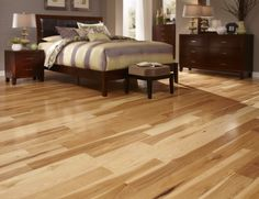 Hickory is distinguished by its amazing color variation & outstanding durability. Being the hardest of all North American woods, it's perfect for those who want beauty and durability in high-traffic areas! http://www.lumberliquidators.com/ll/c/Natural-Hickory-BELLAWOOD-BWHI5NV/10034423