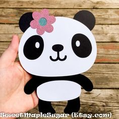 PANDA Bear Cake Topper or Centerpiece Party Decor for Birthday Panda Themed Party, Panda Birthday Party, Panda Party, Bear Party, Baby Birthday, Diy Valentines Cards, Valentine Day Boxes, Valentines For Kids, Panda Bear Cake