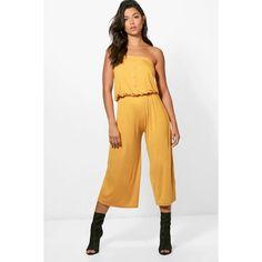1bdf0797ec9 Boohoo Tanya Bandeau Culotte Jumpsuit (28 NZD) ❤ liked on Polyvore  featuring jumpsuits
