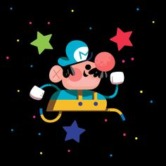 Star Power Mario for Iam8bit's 10th Anniversary show, Andrew Kolb