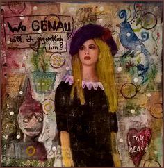 Mixed Media - Art Journal 1: wo genau will ich eigentlich hin? - v. skonea 2016