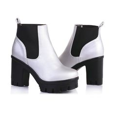 VALLKIN Platform Motorcycle Ankle Boots : Women's Boots : ReShop Store