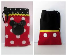 Mickey and Minnie party favor bag.  This would be cute as a diaper and wipe holder!