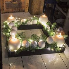 Kersthoofdtooi, DIY-decoraties, Kerstmis kerstdecoraties - Apocalypse Now And Then All Things Christmas, Christmas Home, Christmas Wreaths, Christmas Crafts, Christmas Ornaments, Christmas Candles, Outdoor Christmas Decorations, Christmas Centerpieces, Holiday Decor