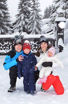 Prince William and family on a Ski Holiday March 2016