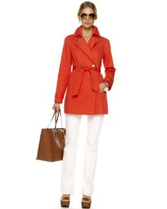 This coral trench is to die for!  Michael Kors