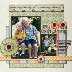 #papercrafting #scrapbook #layout idea: My Everything-1 or 2 Vertical Photos