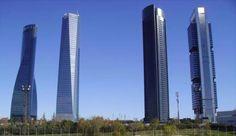 Os arranhacéus no perfil de Madrid - Chamartín