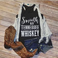 Smooth as Tennessee Whiskey Tri-Blend Racerback Tank Shirt ($24) ❤ liked on Polyvore featuring tops, grey, tanks, women's clothing, gray racerback tank, vintage tops, grey shirt, grey racerback tank and vintage tank top