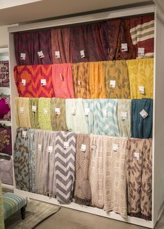 Section of Surya's display of throws- very appropriate for Winter Market 2015.