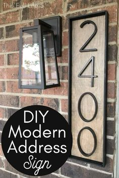 Check out this easy and budget-friendly tutorial for a modern address sign! Source by Home Decor Easy Home Decor, Home Decor Trends, Decor Ideas, House Address Sign, Address Signs For Yard, House Address Numbers, Address Plaque, Contemporary Home Decor, Contemporary House Numbers