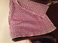 Purple Baby Ripple blanket