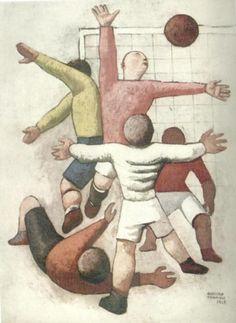 assimo Campigli-Giocatori di calcio-1928