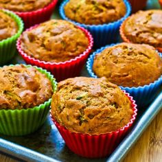 Low-Sugar and Whole Wheat Zucchini Muffins with Pecans (Phase 2 and 3, if following SBD)