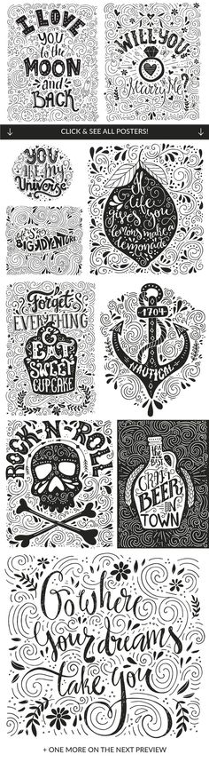 11 Hand Lettering Quotes