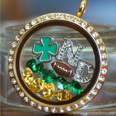 Notre Dame Fighting Irish college football locket necklace – SportLockets.com