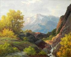 robert woods paintings | This artwork, Topanga Canyon by Robert William Wood , is currently for ...