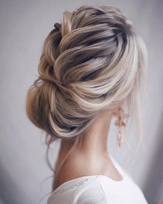 Wedding Hairstyle Inspiration , updo hairstyles, elegant bridal updo #weddinghairstyles
