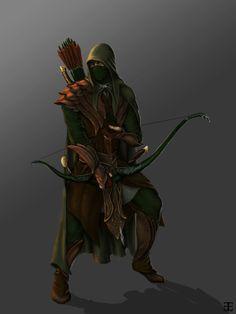 Elven Ranger by Emre Ekmekci, via Behance