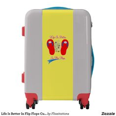 Life Is Better In Flip Flops Cute Summery Luggage