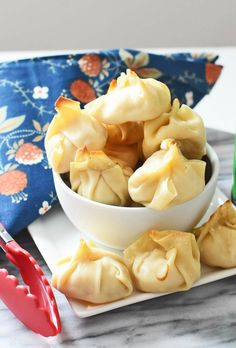"Oven Baked Crab Rangoons. Want to make your very own ""mock deep fried"" crab rangoons or wontons? It is not very hard at all thanks to this tried and true recipe."